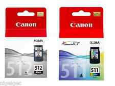 1 X PG512 BLACK + 1 X CL511 COLOUR PIXMA IP2702 MP272 Original Inkjet Cartridge