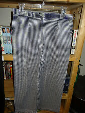 SAG HARBOR Capri Capris Size 12 Blue & White Checkered Elastic Sides L@@K