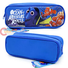 Disney Finding Dory Pencil Case Zippered Pouch Bag Nemo Cosmetic Bag Blue Canvas
