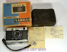 Russian Chaika II with Industar-69 lens 18x24 mm film camera w/box and passport