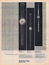 Publicité Advertising 016 1961 Zenith montres
