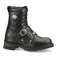 Harley-Davidson® Men's Faded Glory Black Leather Motorcycle Boots D91003 Sz. 7.5