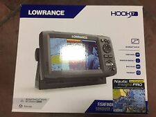 New Lowrance Hook-7 GPS Fish Finder Combo with Nautic Insight Pro FREE SHIPPING!