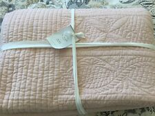 NEW Pottery Barn Hanna FULL QUEEN quilt Blush Rose Pink