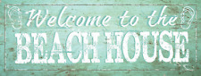 Sun Protected Welcome to The Beach House Metal Signs