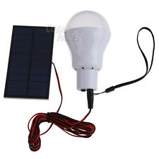 Portable Solar Panel Power LED Bulb Lamp Outdoor Camp Tent Fishing Light C.White