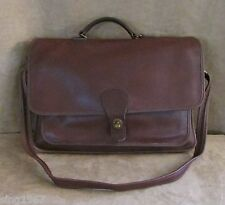 Coach Vintage leather Briefcase brown Beekman unisex bag field tote laptop 0304