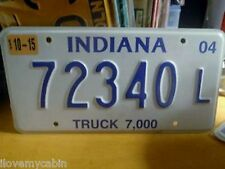 2004 Indiana IN Truck 7000 LBS License Plate 72340 L