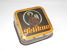 Vintage Printed Tin PELIKAN BOX ca.1930s Fountain Pen Desktop Accessory
