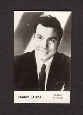Mario Lanza Vintage 1960 Movie Film Star British FPF Card A