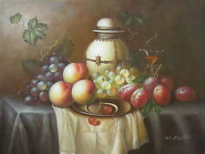 "Gault Fruits Original Hand Painted 12""x16"" Oil Painting Food Canvas Art"
