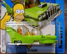 2014 Hot Wheels #89 HW CITY THE SIMPSONS ∞ HOMER∞ GREEN SPACE CAR