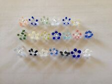 (30)Multicolor assorted Flower Glass Daisy Style Pipe Screens Lot Of 30