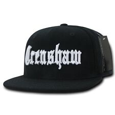 Black Crenshaw South Central LA Embroidered Hip Hop Flat Bill Snapback Cap Hat