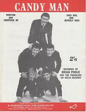 Candy Man - Brian Poole and the Tremeloes - 1961 Sheet Music