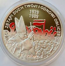 10 Zlotych, 2009 Poland, John Paull II, Solidarity, The election of 4 June 1989