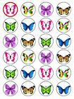 X24 MIXED PINK BUTTERFLY WEDDING BIRTHDAY CUP CAKE TOPPERS ON EDIBLE RICE PAPER