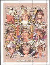 Mongolia 1997 Diana, Princess of Wales/Royalty/Royal/People 9v sheet (b1634)