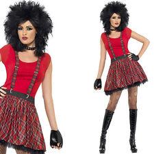 Ladies 80s Punk Fancy Dress Costume - Instant Punk Outfit Kit - 1980s Rock