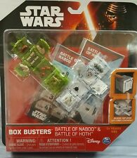 DISNEY'S STAR WARS BOX BUSTERS BATTLE OF HOTH & BATTLE OF NABOO NEW