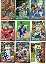 2015 Topps ZACH MCALLISTER Signed Card auto INDIANS rc CHILLICOTHE, IL
