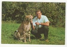 Al Oeming of Alberta Game Farm Edmonton Canada with Cheetah Postcard 365a