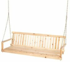 NEW Jennings 5 Ft Unfinished Cypress Wooden Porch Swing! Bench Seat Patio Wood