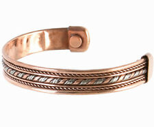 Magnetic Copper therapy bracelet arthritis pain relief bangle blood mens ladies