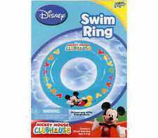 """Inflatable Swim Ring 18"""" Mickey Clubhouse Age 3+ Blue + Colored Mickey Heads New"""