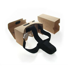 "Google Cardboard VR Glasses Kit & Headband Quality Lens Fits 6""in Android Apple"