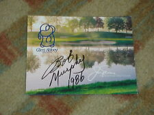 Bob Murphy Winner Signed Glen Abbey Golf Club Scorecard