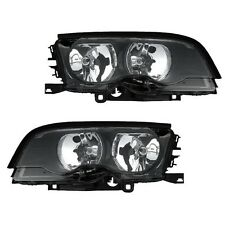 BMW E46 323Ci M3 Convertible / Coupe Pair Set of 2 Halogen Headlights Eagle Eyes