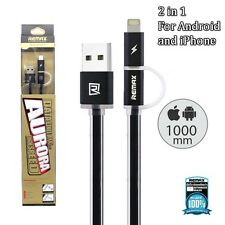 Remax 2.0 Aurora for iPhone iPad Android Micro USB High Speed Data Cable Charger