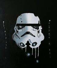 STORMTROOPER Original Art on Canvas (16in x 20in) Graffiti Spray Paint New York