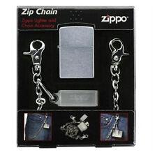 Accessories zippo- chain with moscettoni and portazippo+zippo silver chrome