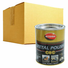 6 x Autosol Solvol Chrome Metal Aluminium Cleaner Polish 750ml Tin Original