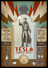Nikola Tesla FRIDGE MAGNET Inventor and Genius Magnetic Poster Canvas 2.5x3.5
