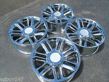 "22"" CADILLAC ESCALADE PLATINUM STYLE CHROME WHEELS 5358 WITH CHROME CENTER CAPS"