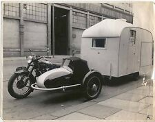 Panther Sidecar Motorcycle and caravan photograph Ref 12252 scruffy