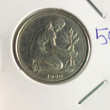 Germany 1990J 50 pfening (pre-euro) coin  - details toning! A better coin OFFER!