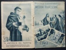 CALENDARIETTO 1942 - MISSIONI FRANCESCANE