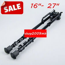 "16""- 27"" Adjustable Bipod Spring Return Legs With Adapter Metal F Rifle Hunting"