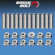 SBM HEADER STUD KIT BOLTS STAINLESS STEEL SMALL BLOCK MOPAR 5/16 273 318 340 360