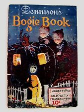 "RARE Vintage Dennison's ""Bogie Book"" Halloween & Thanksgiving Party Decorations"