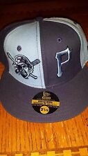 NEW ERA 59 FIFTY MLB PITTSBURGH PIRATES BLUE AUTHENTIC FITTED CAP 7 1/8 NEW