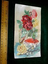 Lovely Sewing Scene, Clark's Spool Cotton. O.N.T. Large Victorian Trade Card #L