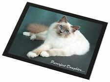 Birman Cat 'Purrrfect Daughter' Black Rim Glass Placemat Animal Table G, PD-85GP