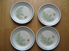 LENOX FANCY FREE SET 4 DESSERT/BREAD PLATES TEMPER-WARE OVEN SAFE MICROWAVABLE