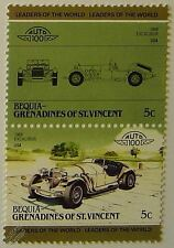 1968 EXCALIBUR (USA) Car Stamps (Leaders of the World / Auto 100)