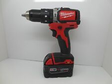 "MILWAUKEE M18 BRUSHLESS 1/2"" HAMMER DRILL with RED LITHIUM XC 4.0  BATTERY"
